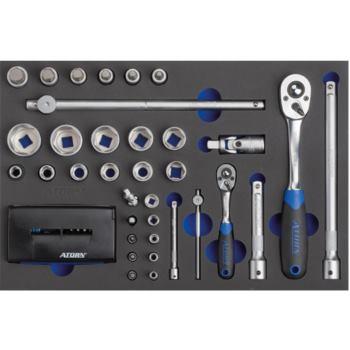 Modul-Hartschaumeinlage Steckschlüsselsatz 1/2 Inc h-1/4 Inch 440x295x31mm