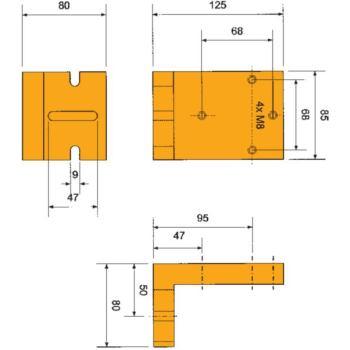 Aufspannwinkel 125x80x85 mm