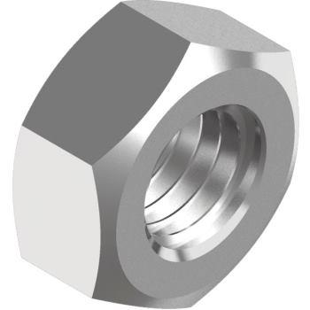 Sechskantmuttern DIN 934 - Edelstahl A2-70 M10 - ver. silber