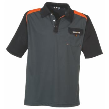 Polo-Shirt dunkelgrau/orange Gr. S