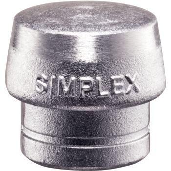 SIMPLEX Einsatz aus Weichmetall silber 30 mm Durc