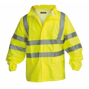 Warnschutz-Regenjacke Klasse 3 gelb Gr. M