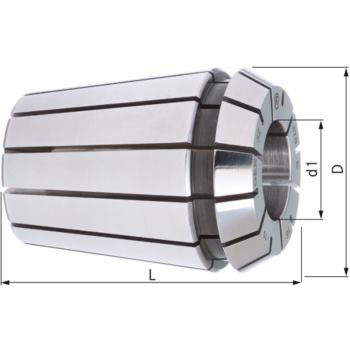 Spannzange DIN 6499 B GER 25 - 9 mm Rundlauf 5 µ