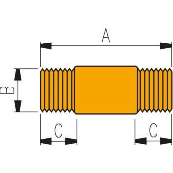 Hochdruckverschraubung FZ 1619 lang. Verbindungss