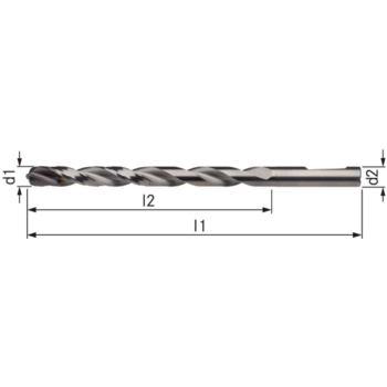 Vollhartmetall-Bohrer UNI TiAlNPlus Durchmesser 6, 3 Innenkühlung 12xD HE