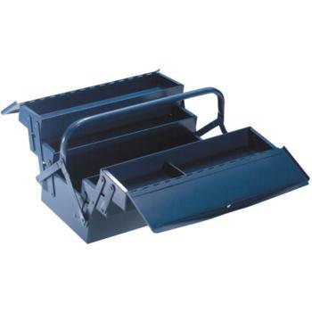 Werkzeugkasten 3-teilig 430 x 200 x 150 mm Hammers chlag blau