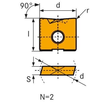 Hartmetall Wechselschneidplatte WPV 25 m
