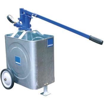 Prüfpumpe HP 500 Behälter fahrbar und Manome