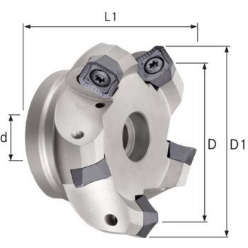 Planmesserkopf für VA Durchmesser 100 mm Z=7