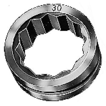 Doppelsechskant-Einsatzring 12 mm für Größe