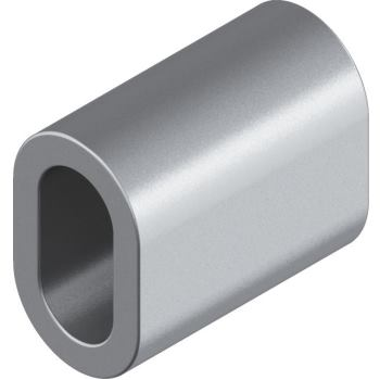 Pressmuffe D= 6 mm, Kupfer vernickelt