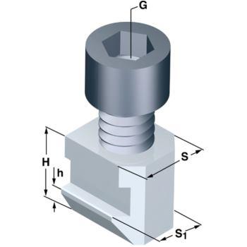 Nutensteine Nutbreite 21 mm abgesetzt