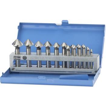 Kegelsenker in Kassette 17-teilig 4,3-25,0 90 Grad , HSS-TiN