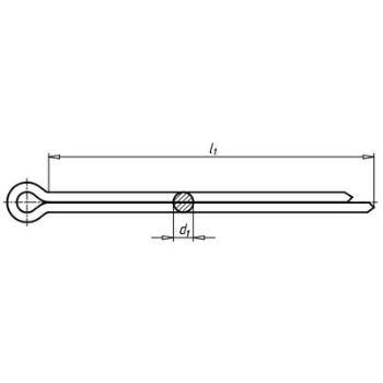 Splint DIN 94 Stahl blank 3,2 x 28 2500 Stück