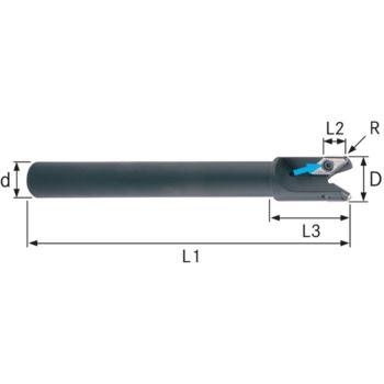 Schaftfräser für VCGT220530 32 mm Schaft D=25 mm Z =2