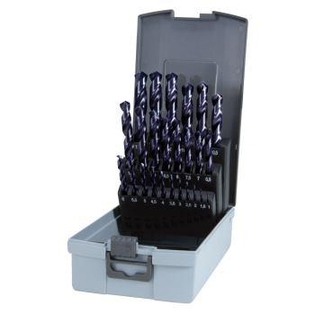 Spiralbohrer DIN 338-VA, HSSE-Co 5 TiAlN,Set 25 pc