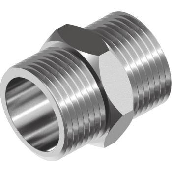 "Sechskant-Doppelnippel WS9640 - Edelstahl A4 A/A-Gewinde R 1/4"""