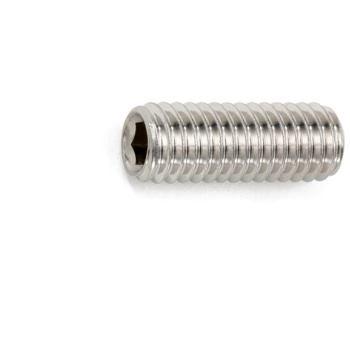 Gewindestift mit Innensechskant und Kegelstumpf ISO 4026 Edelstahl A2 21H blank M6 x 10 1000 Stüc