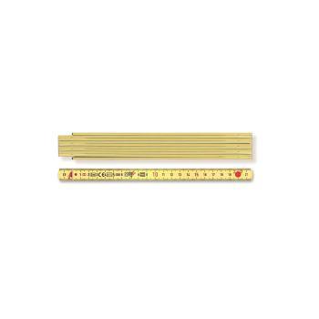 Kunststoffgliedermaßstab Länge 2 m, gelb 936990200