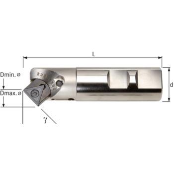 Fasenfräser verstellbar 10-80 Grad Schaftdurchmess er 25,00 mm L=100 mm Z1
