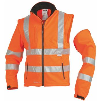 Warnschutz-Softshelljacke Klasse 3 orange Gr. XXX L