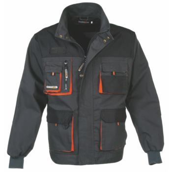 Berufsjacke dunkelgrau/orange Gr. 56
