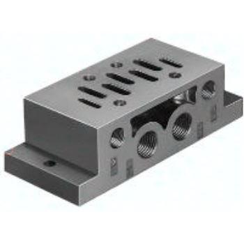 NAS-3/8-2A-ISO 11310 Einzelanschlussplatte