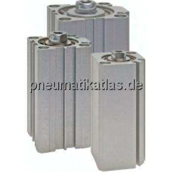Kompaktzylinder, doppeltwir- kend, Kolben Ø 40 mm,Hub 60mm