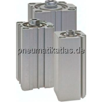 Kompaktzylinder, doppeltwir- kend, Kolben Ø 12 mm,Hub 25mm
