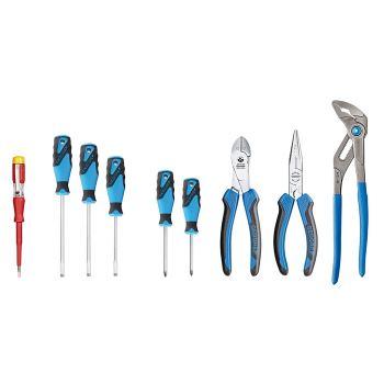 Zangen/Schraubendreher-Sortiment für Werkzeugkarte ET-1100 W