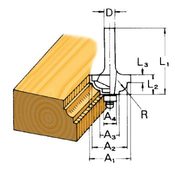 Profilfräser Konkav Ø 20mm ( Schaft 6mm )