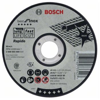 Trennscheibe gerade Best for Inox - Rapido A 46 V