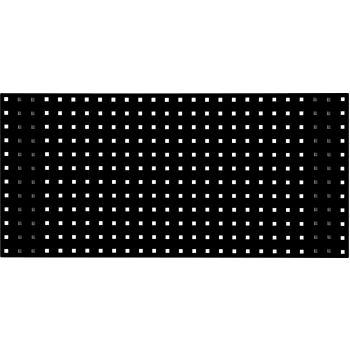 Lochplatte-tiefschwarz, 2000x450mm