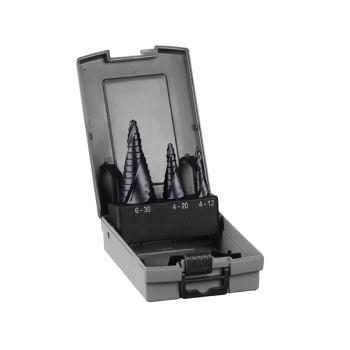 Stufenbohrer HSS-AlTiN-Set, 3-teilig, 4 - 12 mm, 4