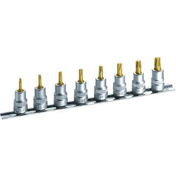 Steckschlüssel-Satz (6kt.) 8802T/8H · Vierkanthohl 10 mm (3/8 Zoll) · Innen TORX® Profil
