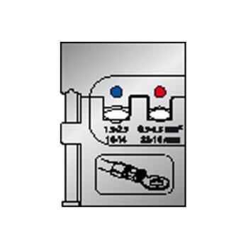 Modul-Einsatz für isolierte Kabelschuhe 0,5-1,5/1, 5-2,5