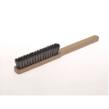Feinbürsten 225 x 16 mm 3 rhg. Messingdraht MES gew. 0,15 mm hoch 20 mm