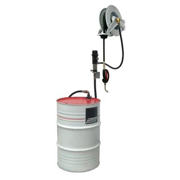 pneuMATO 3 - Wandmontage für 200 l Ölfässer mit Öl