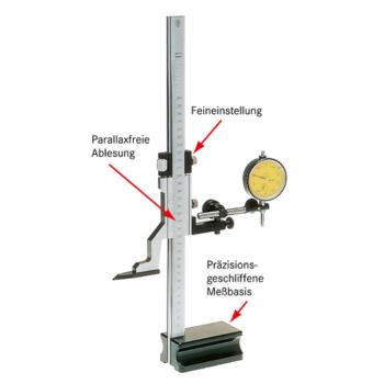 PREISSER Höhenreißer 600 mm ohne Zubehör ohne Holz