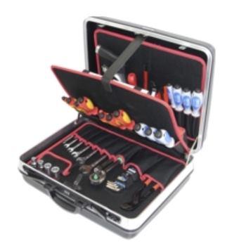 Hartschalenkoffer 12-H3, komplett, mit Elektro-Ser vice-Werkzeugpaket 12, 45-teilig