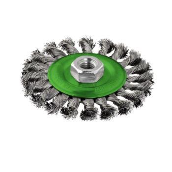 Scheibenbürste, Edelstahl, gezopfter Draht, 0,5 mm