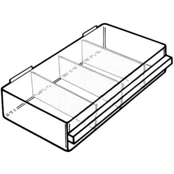 Schubladen transparent 64 x 279 x 155 mm Typ 150-