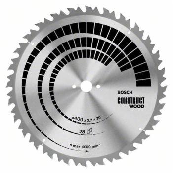 Ø 400 x 30 x 3,2 mm Kreissägeblatt Construct Holz