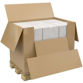 Palettenbox aus Wellpappe 1180x780x765mm, geheftet