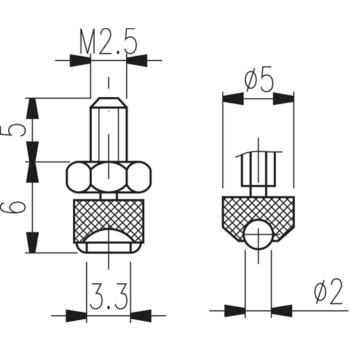 Messeinsatz Typ TN 30 W hartmetallbestückt