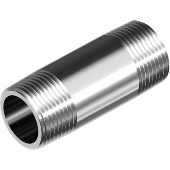"Rohrdoppelnippel DIN 2982-R - Edelstahl A4 R 3/8"""