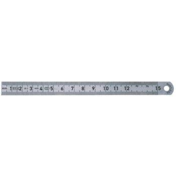 Maßstab aus Federbandstahl Länge 200 mm nichtrost