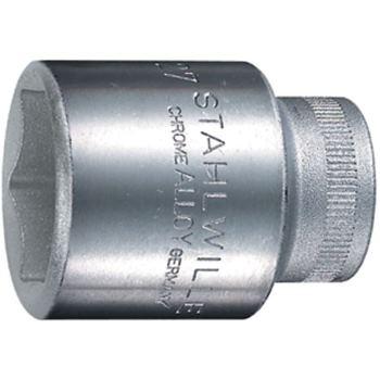 """1/2"""" Zoll Steckschlüssel Einsatz Ø 25 mm sechskant DIN3124"""