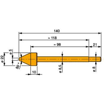 TESA Messeinsatz Stahl gehärtet 5,0 -20,0 mm mit k