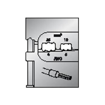 Modul-Einsatz für Aderendhülsen 16/25mm